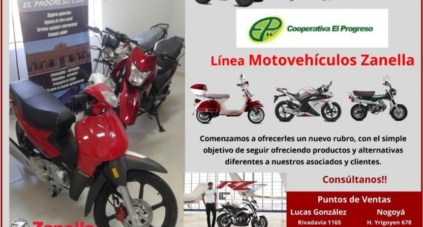 La Cooperativa El Progreso incorpora motos Zanella