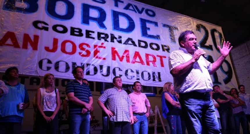 El peronismo de Paraná encolumnado con Bordet