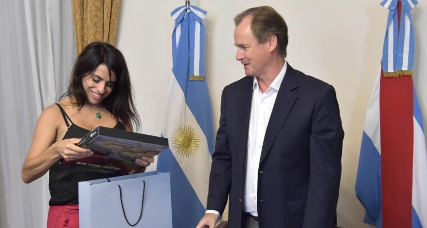 Bordet recibió a la diputada nacional Victoria Donda