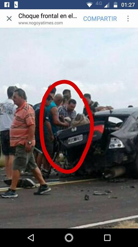 Choque frontal en el puente Rosario- Victoria: El Dr. Adaime trabajó en el lugar atendiendo heridos