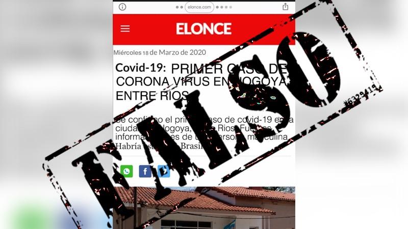 UNA NOTICIA FALSA CONMOCIONÓ, POR UN RATO, A LA VECINA CIUDAD DE NOGOYÁ