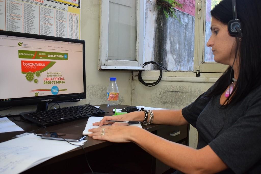 La línea que habilitó la provincia para canalizar consultas por coronavirus recibió más de 480 llamados el primer día