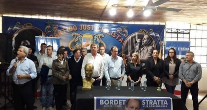 BORDET, STRATTA, SOLANAS, MAIDANA  Y KOCH  HABLARON EN ACTO DEL PJ EN NOGOYÁ