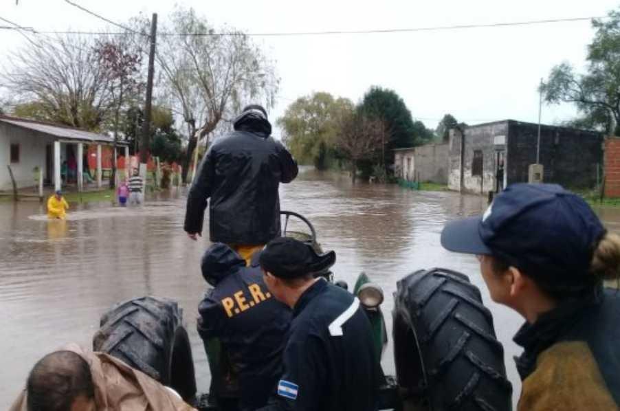 Complicada situación en Rosario del Tala con 170 evacuados