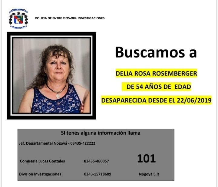 LA POLICÍA BUSCA A SEÑORA DESAPARECIDA EN LUCAS GONZALEZ