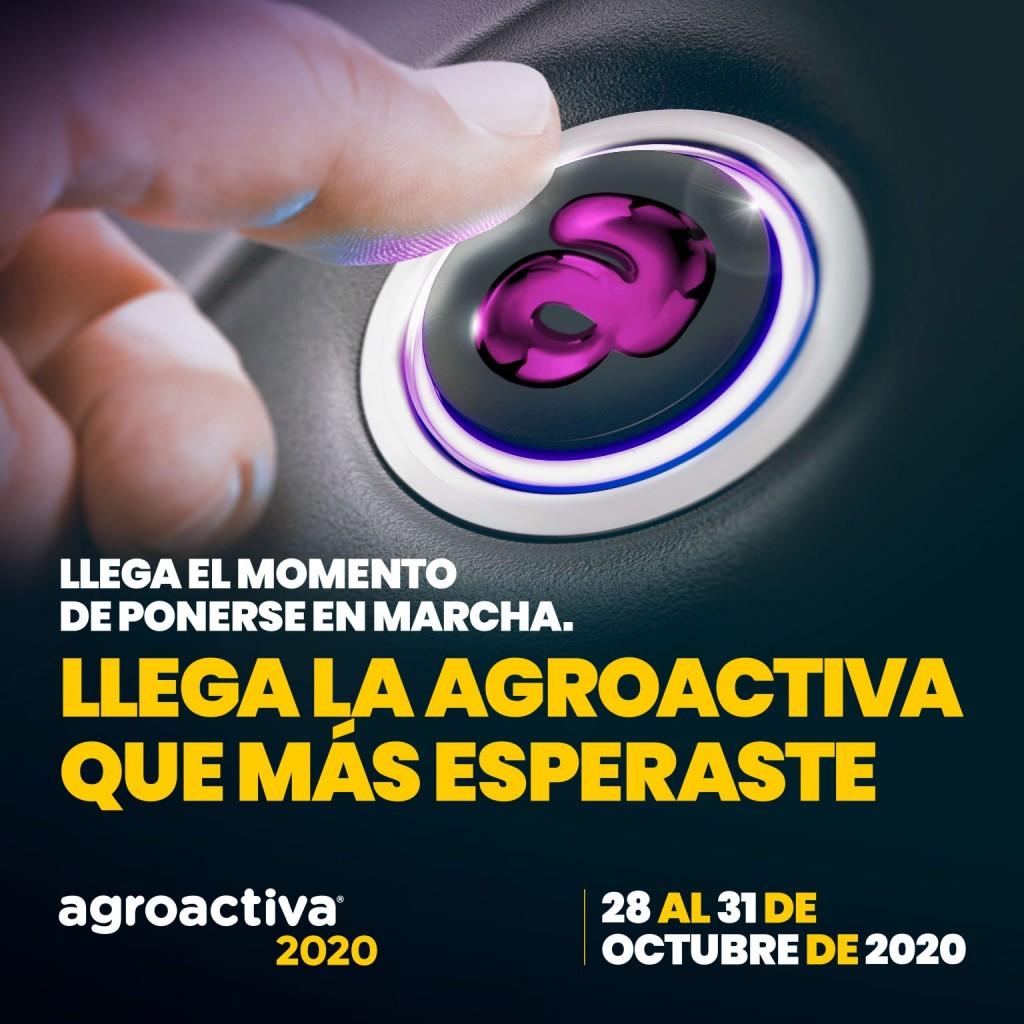 AGROACTIVA 2020 SERÁ DEL 28 AL 31 DE OCTUBRE