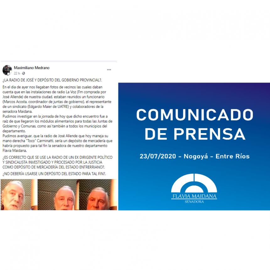 SENADORA FLAVIA MAIDANA VÍCTIMA DE LAS