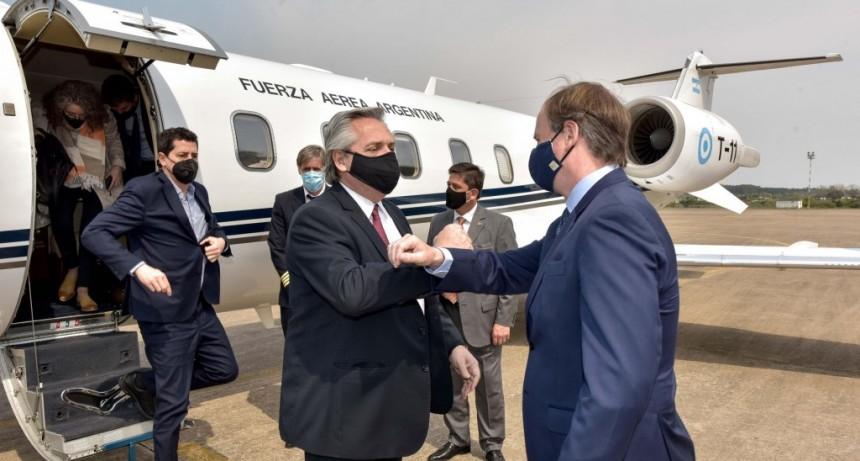 Bordet recibió a Alberto Fernández para compartir una amplia agenda de trabajo