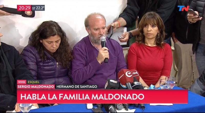 SERGIO MALDONADO DIJO QUE NO ESTÁ CONFIRMADO QUE SEA EL CUERPO DE SU HERMANO