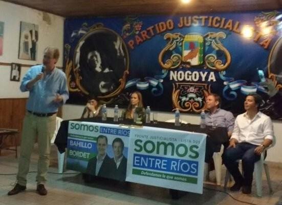 Los candidatos del peronismo estuvieron en Nogoyá