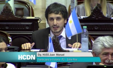 EL DIPUTADO NACIONAL JUAN MANUEL HUSS DEL FPV EXPLICÓ SU VOTO NEGATIVO A LAS REFORMAS JUBILATORIA E IMPOSITIVA